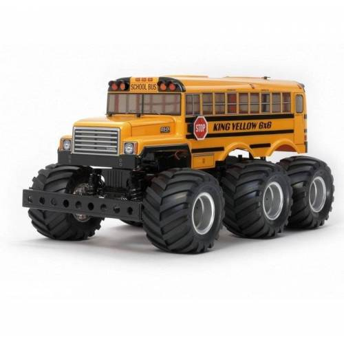 Tamiya 1:18 RC King Yellow 6x6 Bus Lack. G6-01