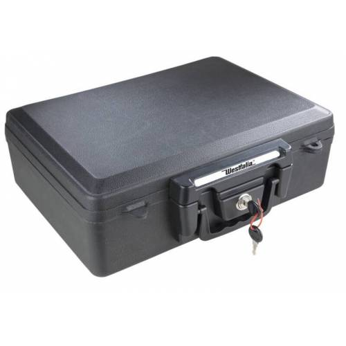 BlackGuard Dokumentenbox zur sicheren Aufbewahrung von Dokumenten, feuerfest