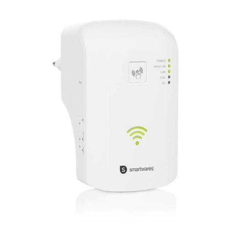 Smartwares® WiFi-Repeater mit Dualbandbetrieb inklusive 2 LAN-Anschlüssen