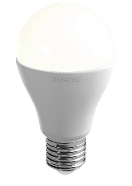 Duracell 6 Watt LED Lampe - E27/ matt/ 140° Leuchtwinkel/ warmweiß/ 470 Lumen