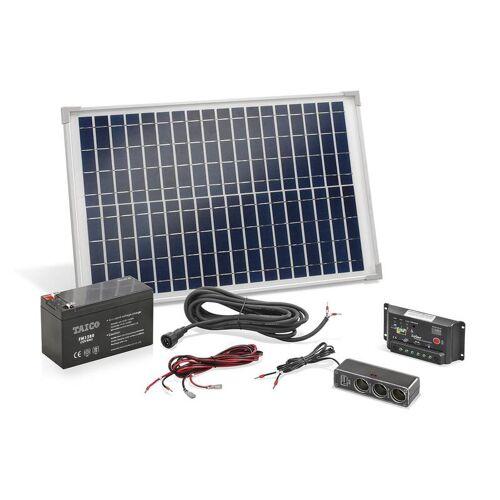 Esotec Solar Inselanlage 20 Watt inkl. Akku und Mehrfachsteckdose
