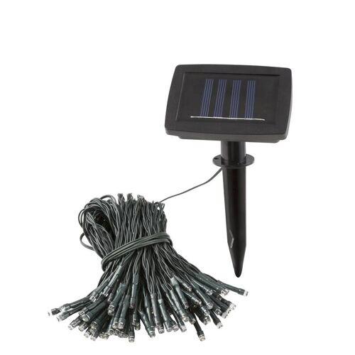 Heitronic Solar LED Lichterkette mit 100 warmweißen LEDs