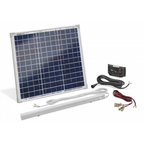 Esotec Solar Inselanlage 30 Watt mit 8 Watt LED Leuchte