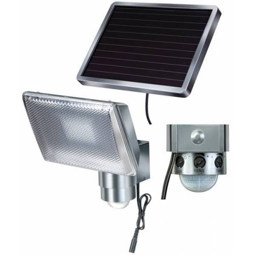 Brennenstuhl Solar LED Strahler SOL 80 ALU mit Bewegungsmelder - IP44