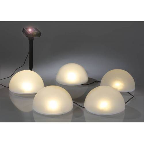 Solar LED Halbkugeln – 5 Stück