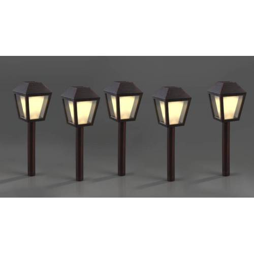 Solar Laternen im Antik-Kupfer Design, 5er Set