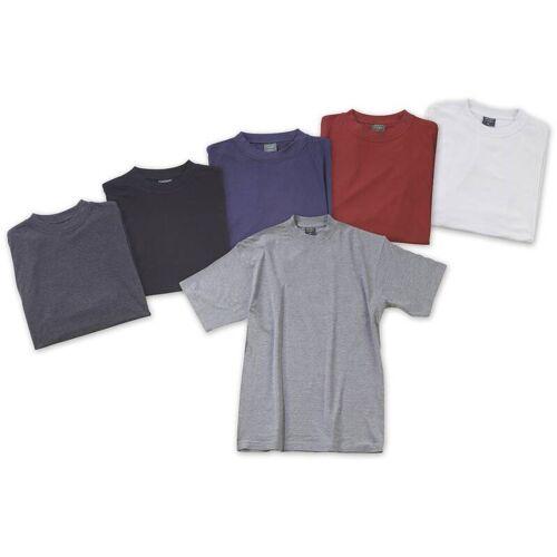 Big Size T-Shirt, silbergrau Gr.4XL