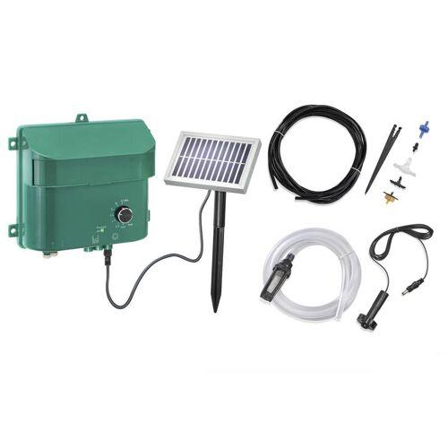 Esotec Solar Bewässerungsset mit Akku, Panel, Pumpe, Schlauch, Düsen etc.
