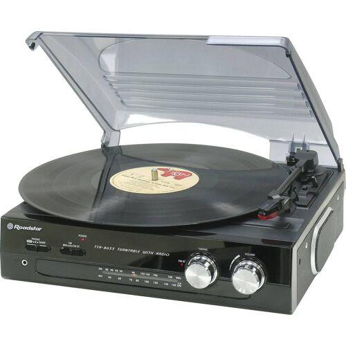 Roadstar Plattenspieler TTR-8633/N mit FM Stereo Radio