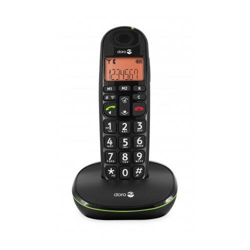 Doro Analoges DECT-Telefon PhoneEasy 100w weiß mit Telefonbuch bis zu 20 Einträgen