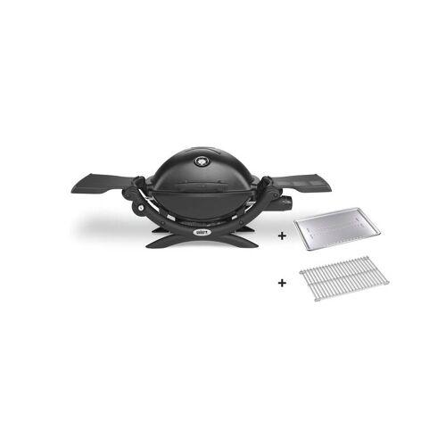 Weber Gasgrill Q 1200, Black, mit Hitzeschild und Bratenrost