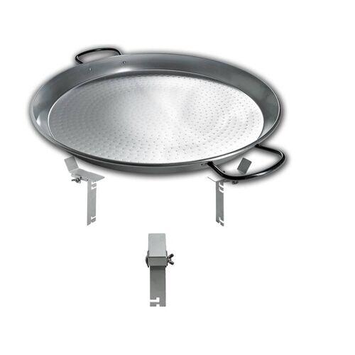 Moesta PAN BBQ Set - für Smokin Pizzaring: 60 / 67cm - die XXL Pfanne füre Paelle, Reibekuchen und vieles mehr