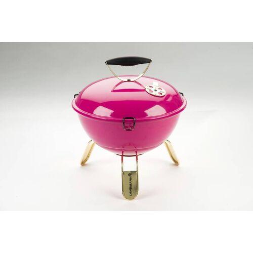 Landmann Piccolino Kugelgrill Queen pink tragbar, inkl Grillschürze