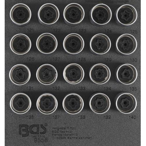 BGS Felgenschloss-Werkzeug-Satz für Opel, Vauxhall (Typ C)   20-tlg.