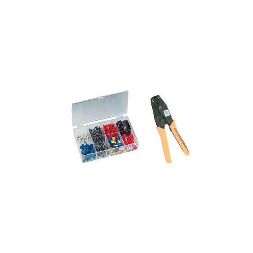 Wetelux Aderendhülsenzange + Endhülsen Set von 0,5 mm²-16 mm² 450 Stück