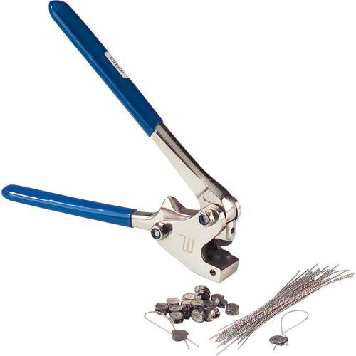 Westfalia Plombierzange 8-10 mm für Blei & Kunststoffplomben, 170 mm Metall