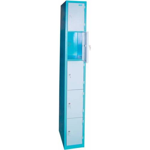 Güde Schließfachsäule  5 Fächer mit abschließbaren Türen