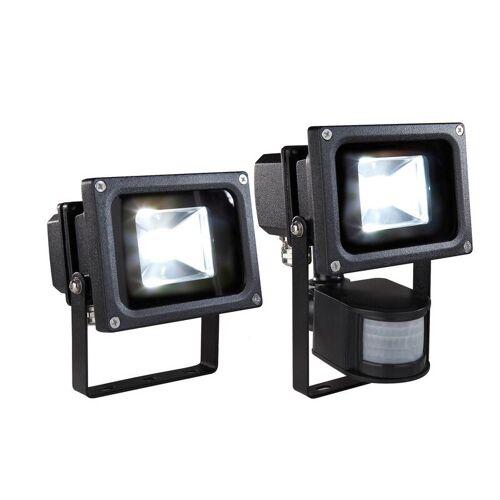 Wetelux LED Fluter 10 Watt/ 800 lm mit PIR Bewegungsmelder