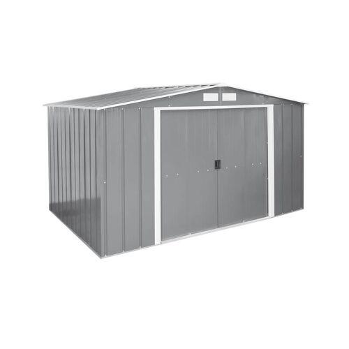 Tepro Metallgerätehaus Eco 10x8 anthrazit mit Giebeldach