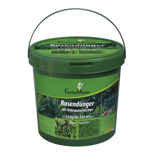 GartenMeister Rasendünger mit Unkrautvernichter, 7,5 kg für ca. 275 m²
