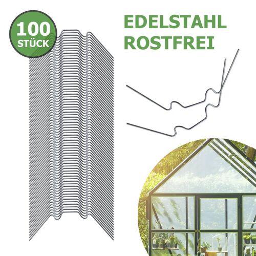 AWAPRO Gewächshausklammern aus Edelstahl, 100 Stück
