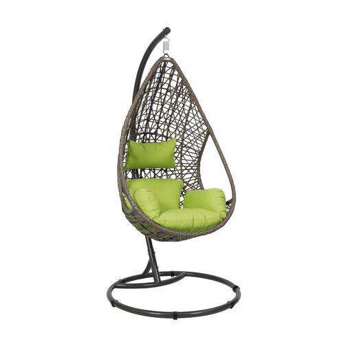 greemotion Garten-Hängesessel Kuba - braun/grün