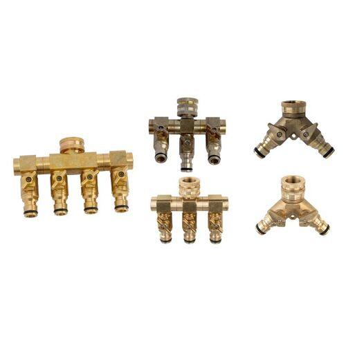 UPP 4 Wege Wasserverteiler - 4 Zapfstellen mit unabhängigem Schließmechanismus