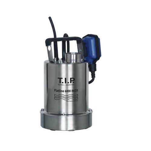 T.I.P. Drainage & Poolentwässerungspumpe FlatOne 6000 INOX, flachabsaugend bis 1 mm, bis 6.000 l/h Fördermenge