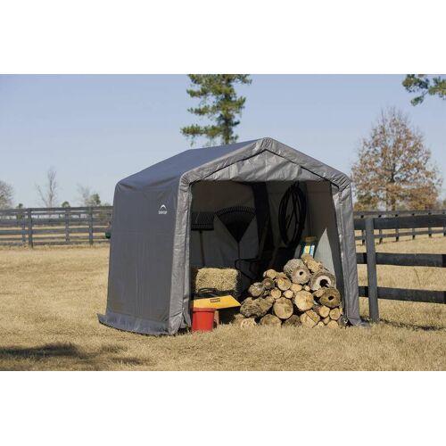 Shelter-Logic Foliengerätehaus 13,7 m² grau, 370x370 cm