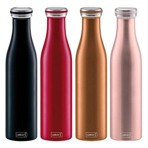 Lurch Isolier-Flasche, Thermo-Flasche, Milchflaschen-Design, 0,75 Liter, Schwarz