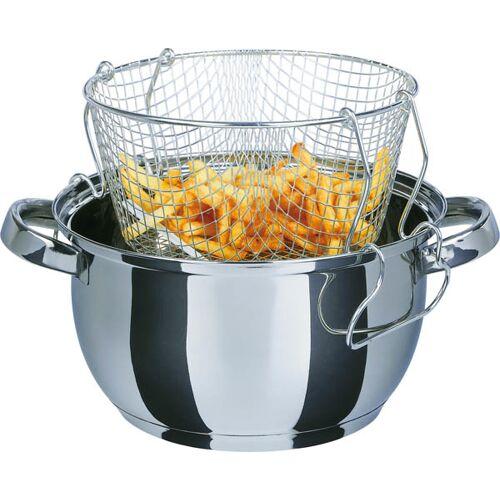 GSW Frittier-/ Gartopf Universal, 3-teilig, Frittierkorb + Glasdeckel