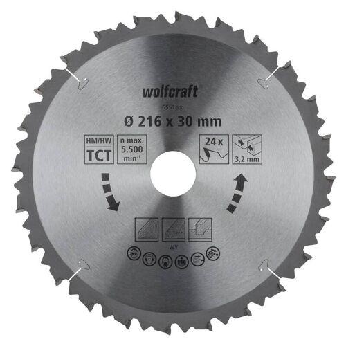Wolfcraft HM-Sägeblatt 216 x 30 x 3,2 mm