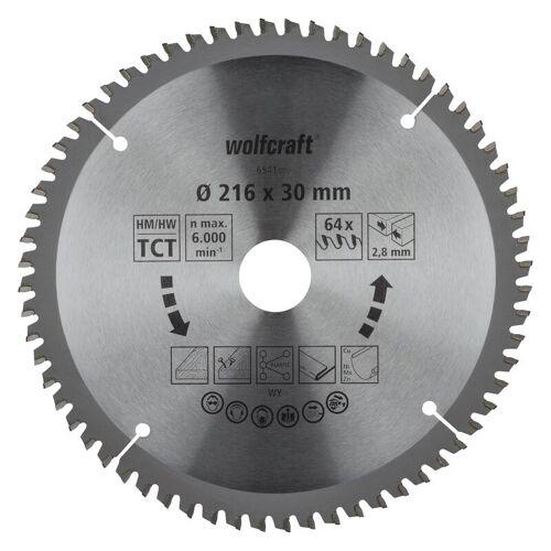Wolfcraft HM-Sägeblatt 216 x 30 x 2,8 mm