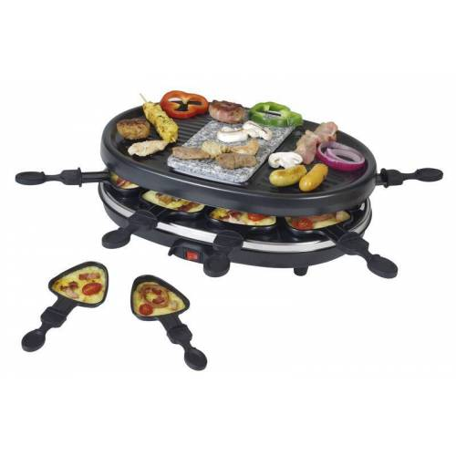 Kalorik 2in1 Raclette-Grill mit heißem Stein