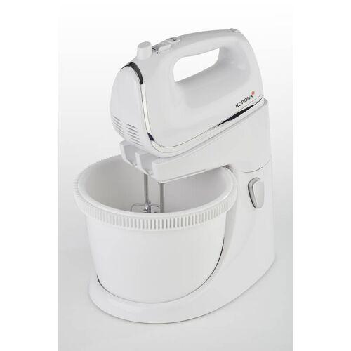 Korona Hand-Mixer mit Rührschüssel, 2,5 Liter, Weiß, 450 Watt