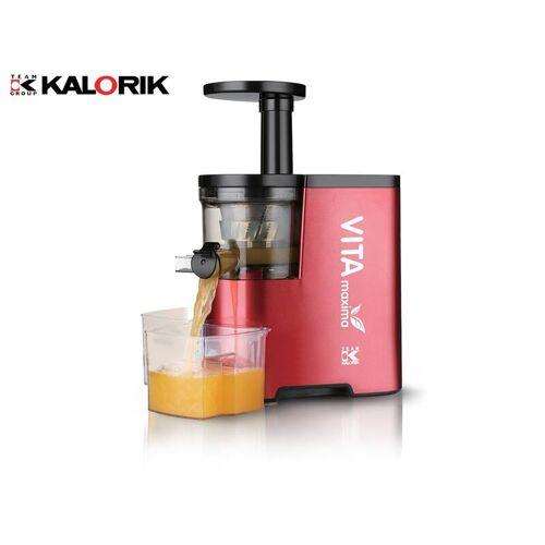 Kalorik Vitamin Entsafter, Slow Juicer in Metallic Rot