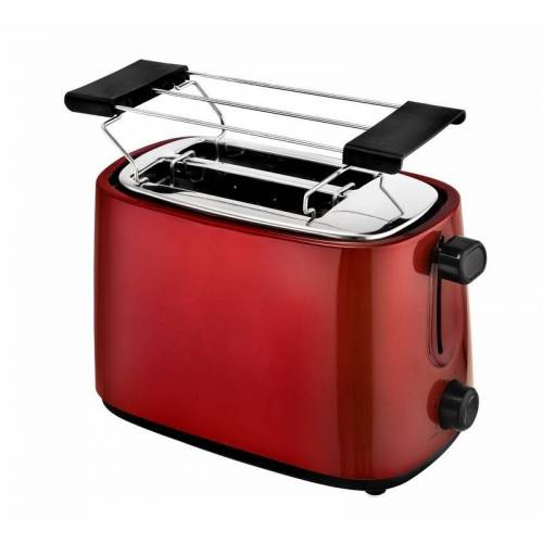 Kalorik Design Edelstahl Toaster in Metallic Rot