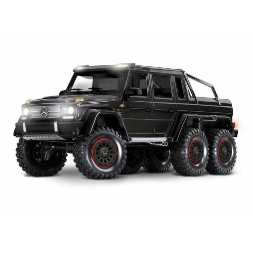 Traxxas Mercedes-Benz G63 AMG 6x6 RTR ohne Akku/Lader inkl. Licht 1/10 6WD Scale-Crawler Brushed schwarz