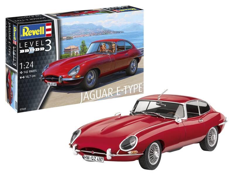 Revell Modellbausatz Jaguar E-Type (Coup) im Maßstab 1/24 - 142 Teile