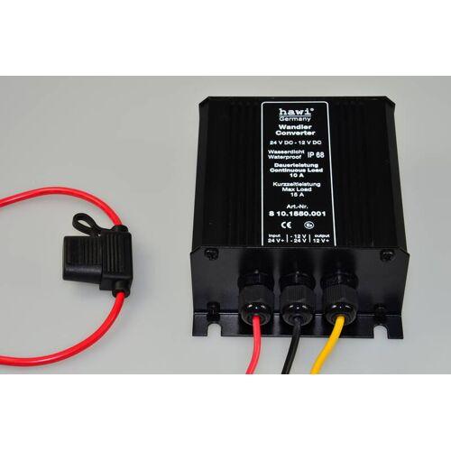 hawi® Spannungswandler 24V - 12V - 10A IP 68