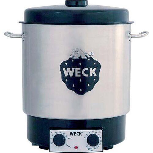 Weck Elektro-Einkochautomat Edelstahl WAT25, mit Zeitschaltuhr und Thermostat, 1800 Watt