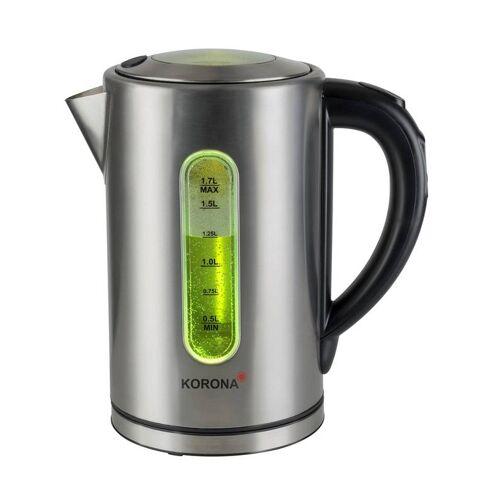 Korona LED-Wasserkocher, Edelstahl, 2200 Watt, 1,7 Liter