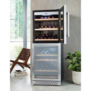 Caso EEK: A(A+++-D) - Caso WineChef Pro 126-2D, Weinkühlschrank, smart per App, Weintemperierschrank für bis zu 126 Flaschen, 2 Temperaturzonen