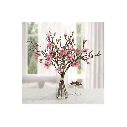 Künstliche Magnolien, Blumenstrauß, Magnolienzweige, ca. 60 x 75 x 60 cm