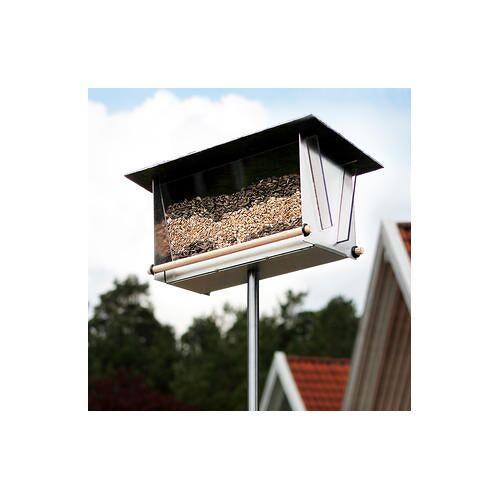 Opossum Design Edelstahl-Vogelhaus VH-10-S mit Sichtfenster