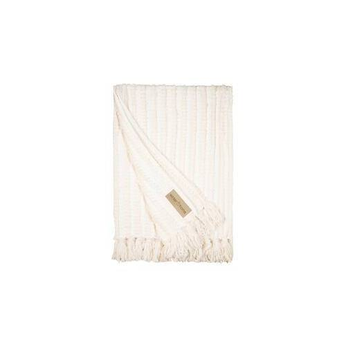 Winter Home Plaid Galloway, 130 x 180 cm, weiß