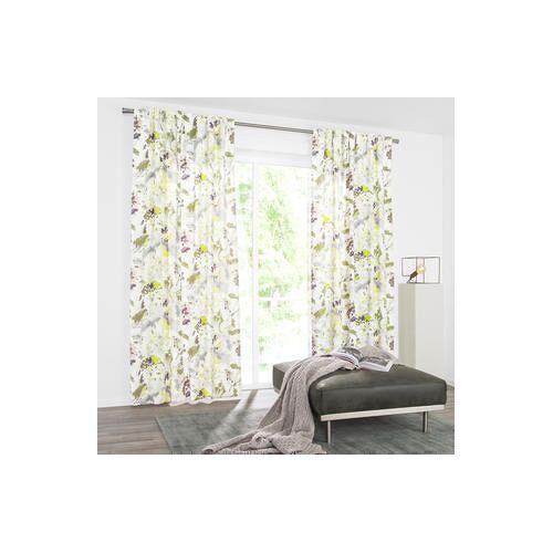 Vorhang Madrone - 1 Stück, 130 x 245 cm - Lime/Grau/Lila