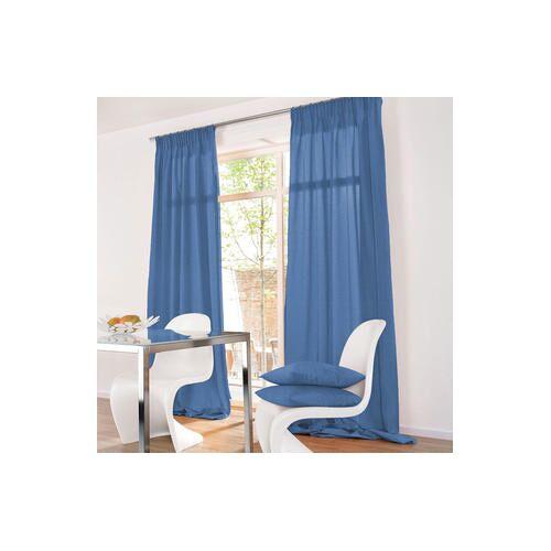 Vorhang Shantung - 1 Stück, 132 x 280 cm - Blau