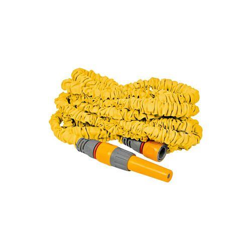 New Flexi-Schlauch Premium, dehnbarer Gartenschlauch Gartenwasserschlauch, gelb
