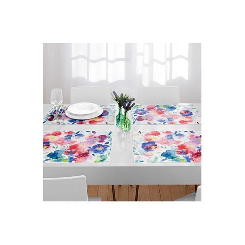 Aquarell-Tischsets, fleckenabweisende Platzsets, hitzebeständig, 6er-Set, je 50 x 35 cm
